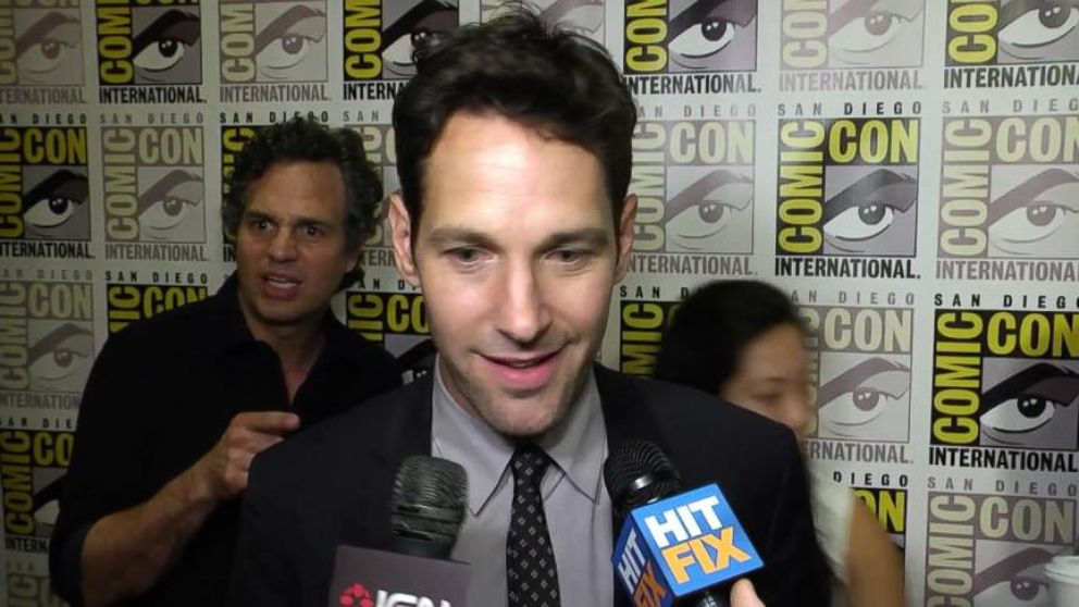 VIDEO: Mark Ruffalo could barely contain his excitement when he saw Rudd being interviewed by HitFix.