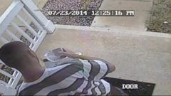 VIDEO: Outraged homeowner tracked down the thief after posting security footage to Facebook.