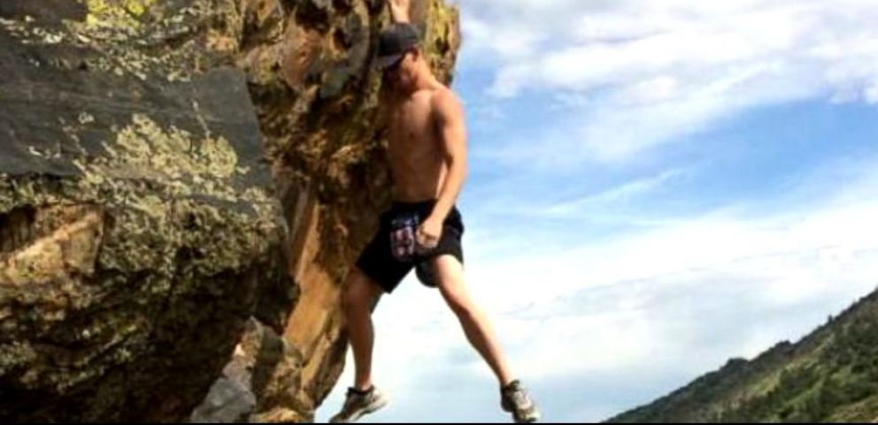 VIDEO: Dylan Schuetz says he survived the plunge because of his training in gymnastics.