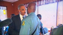 VIDEO: Only six arrests the night after Attorney General Eric Holder met with the family of Michael Brown.