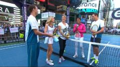 VIDEO: Tennis stars descend on New York for the highly anticipated tournament.