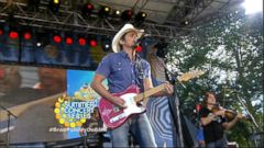 "VIDEO: Brad Paisley closes out the ""GMA"" Summer Concert Series with the lead single off his new album."