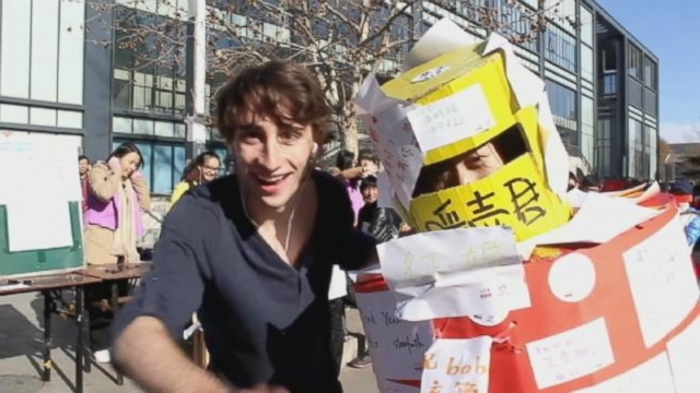 VIDEO: Jake Gaba danced his way across China for 100 days to mark his trip in a special way.