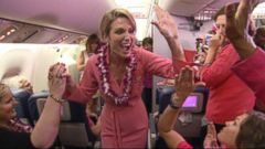 VIDEO: Amy Robach Surprises Breast Cancer Survivors Aboard Pink Plane