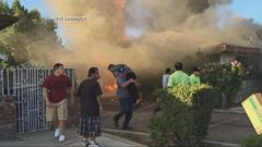 VIDEO: Brave Rescuer Saves Father from Fire