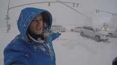 VIDEO: ABC News Gio Benitez reports from waist-deep snow and stranded cars in Buffalo, New York.