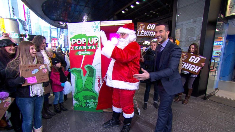 Pop-Up Santa Becomes a Viral Sensation