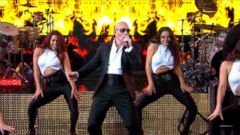 VIDEO: Pitbull Brings the Heat With Fireball