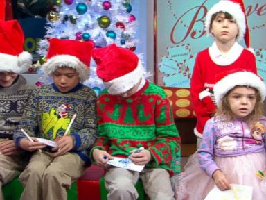 VIDEO: Children Write Letters to Santa for National Believe Day