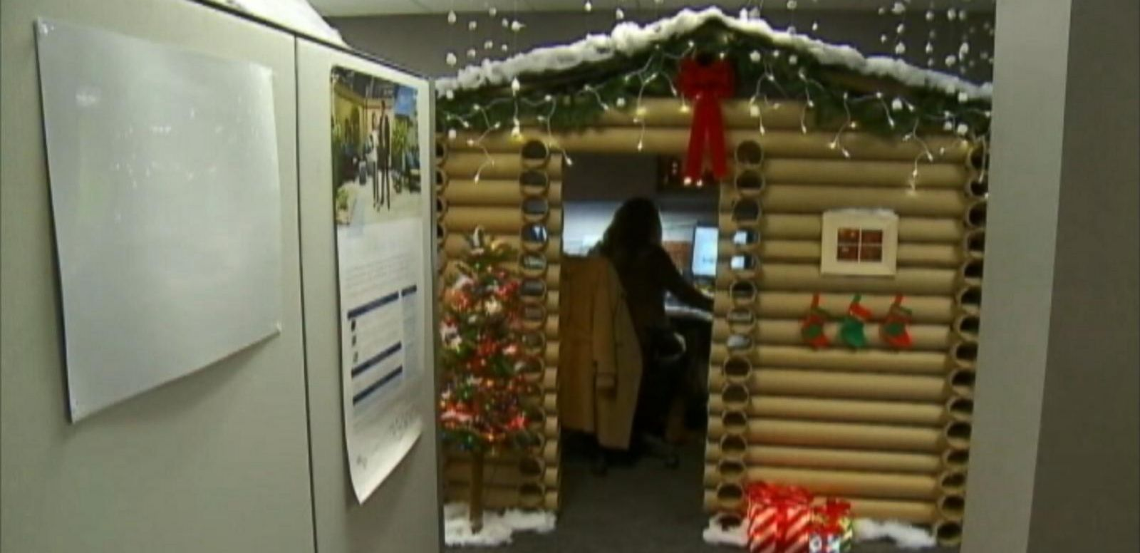 VIDEO: Angela Westfield decorated her desk for an office competition.