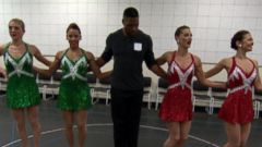 VIDEO: The Newest Rockette, Michael Strahan