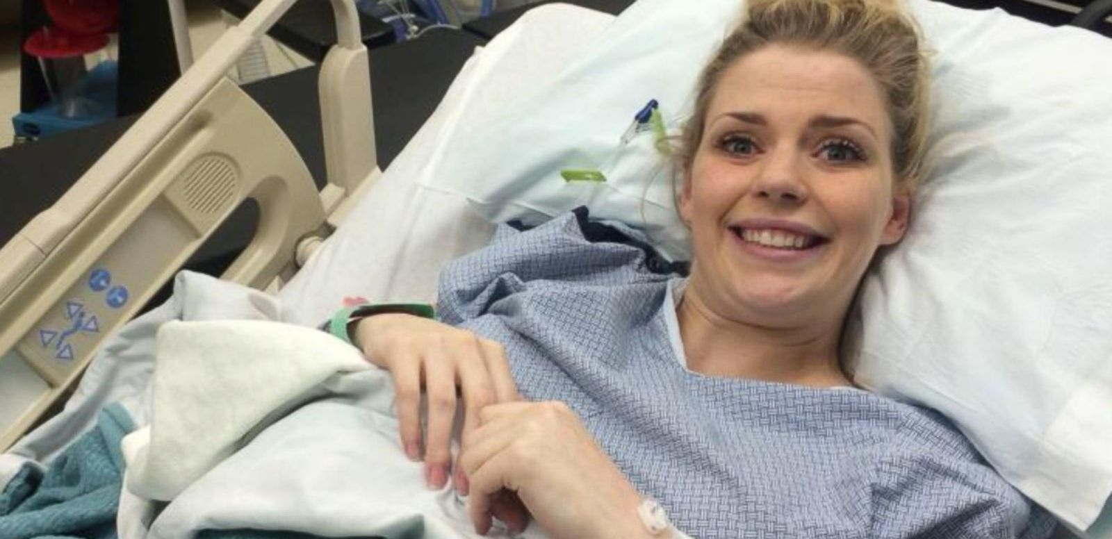 VIDEO: A photo of Ashley Gardner's reaction to being pregnant with quadruplets went viral earlier this year.