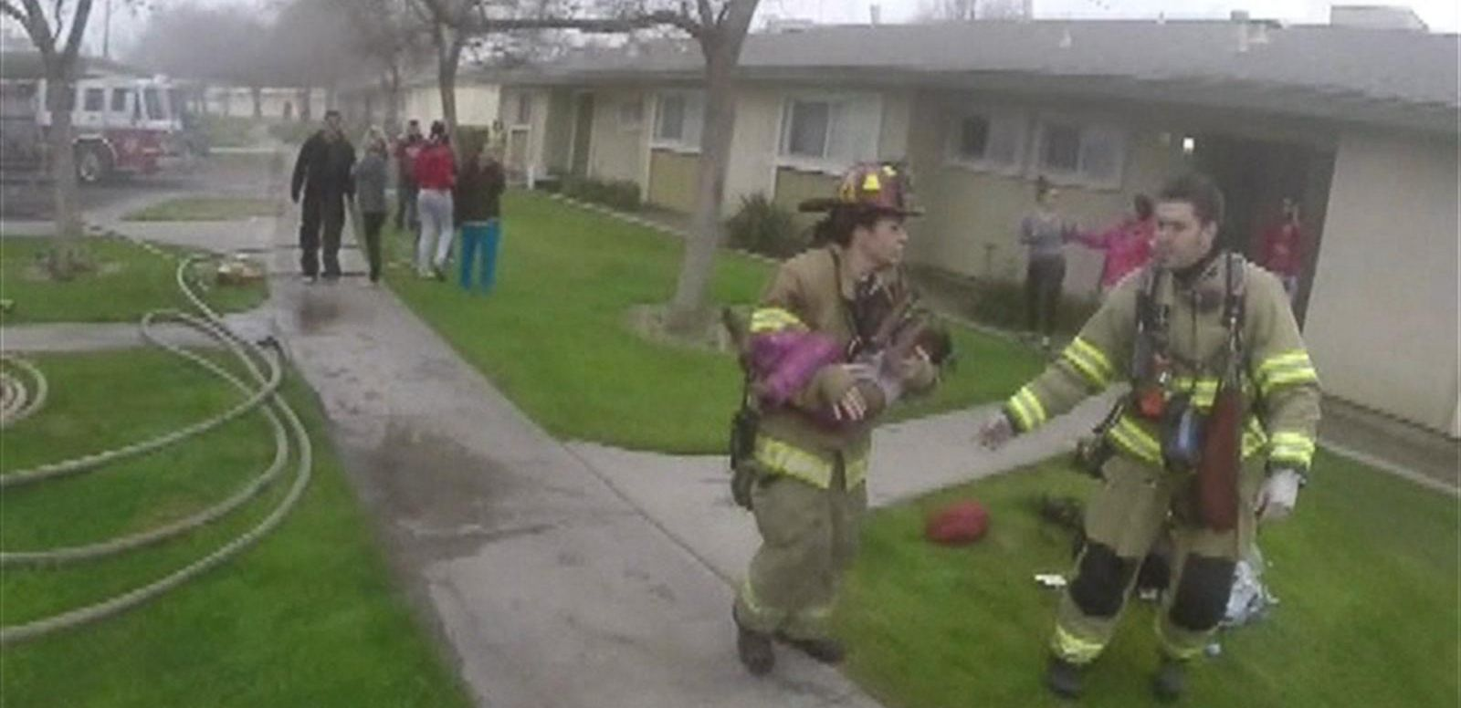 VIDEO: Helmet Cam Captures Firefighters' Dramatic Rescue of Fresno Family