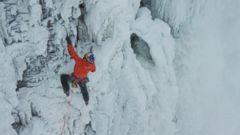 VIDEO: Ice Climber Successfully Scales Frozen Niagara Falls