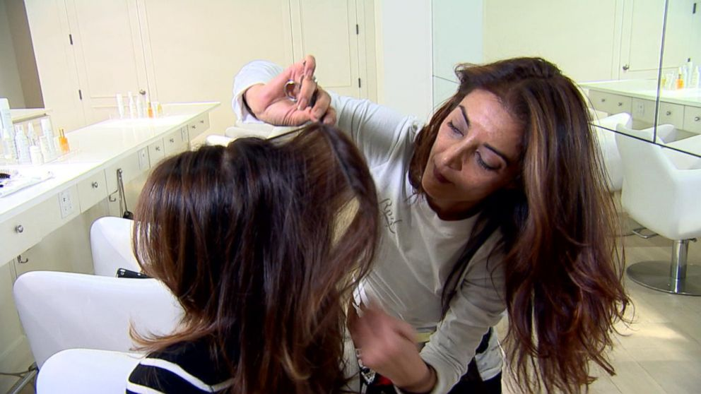 Hair extensions on the go is new speed styling trend video abc news pmusecretfo Choice Image