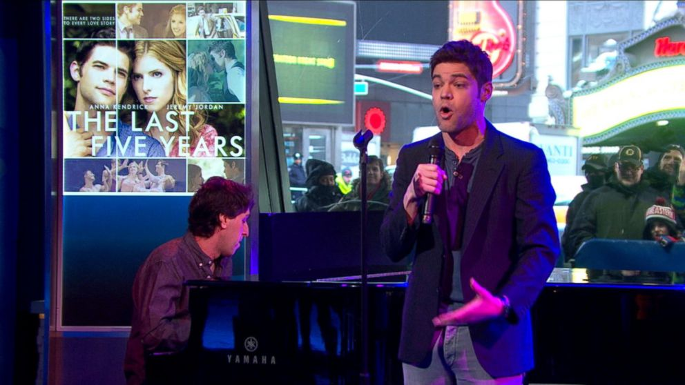 jeremy jordan performs moving too fast from new movie musical