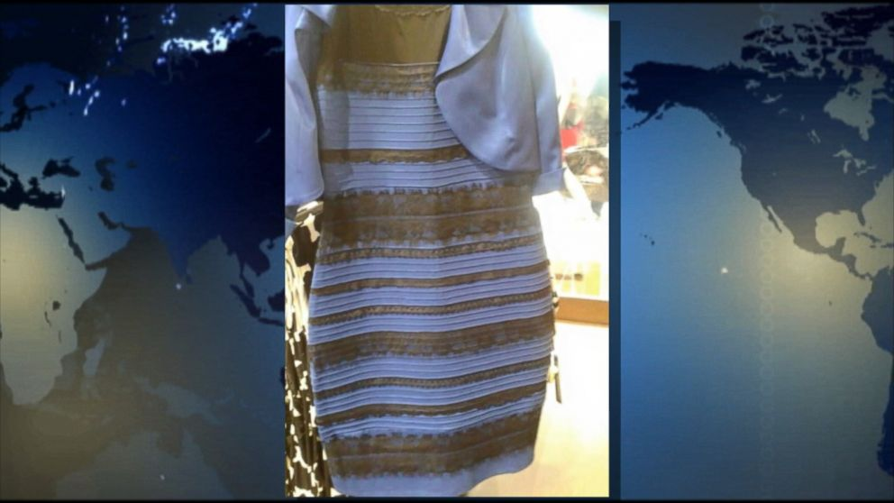 Gold and white dress news