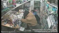 VIDEO: The tense altercation was captured on the Kentucky stores surveillance camera.