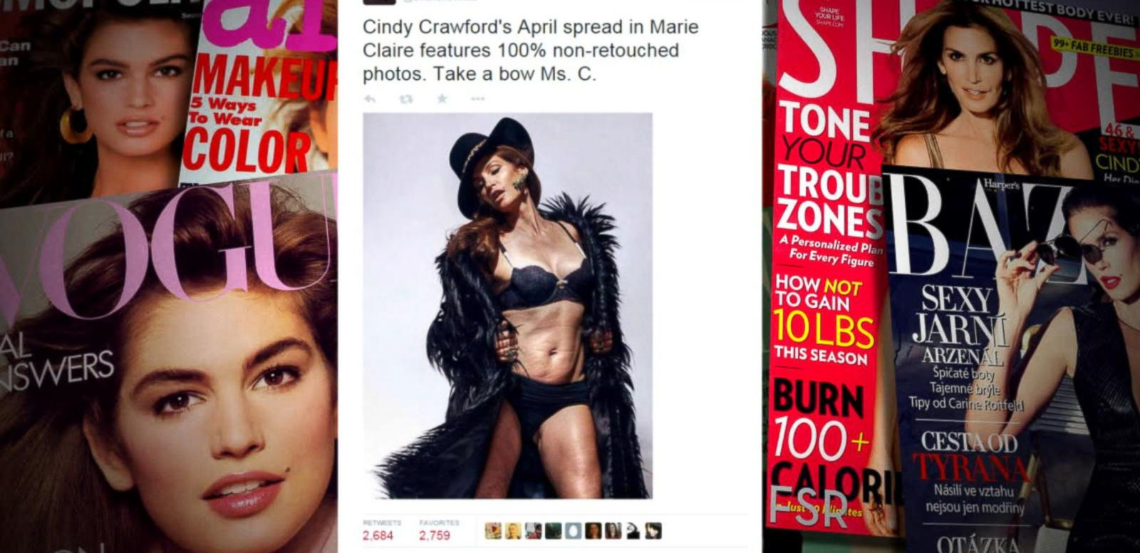 VIDEO: Unaltered Cindy Crawford Photo May Have Been Doctored