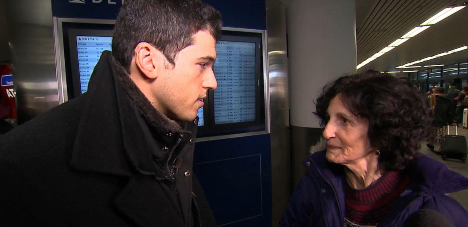 VIDEO: Sheila Mihalovits, 73, describes the landing mishap of Delta Flight 1086 at LaGuardia Airport.