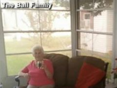 VIDEO: Yolie Ball jumped into photos of her staged house for sale.