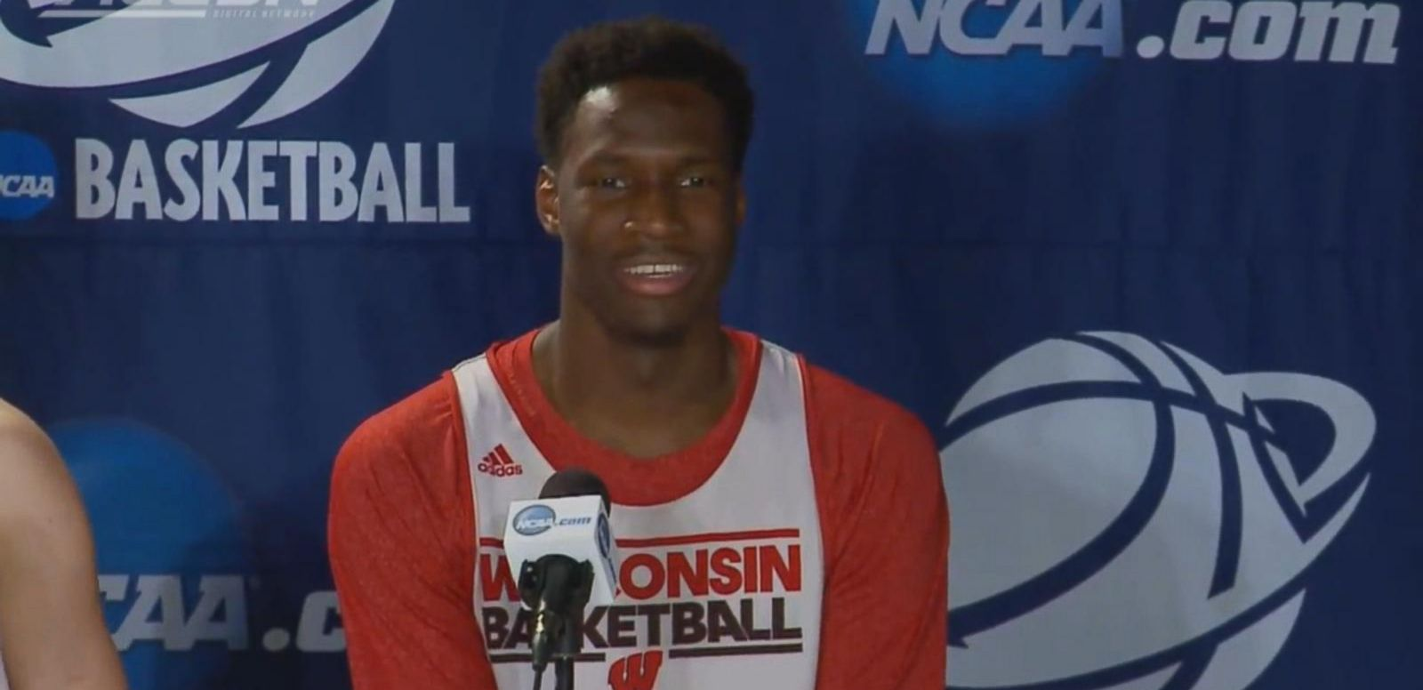 VIDEO: March Madness: Wisconsin Badger Nigel Hayes Whispers a Little Too Loudly