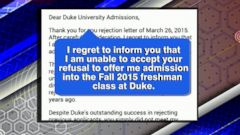 VIDEO: HS Student Posts Her Rejection of College Rejection Letter