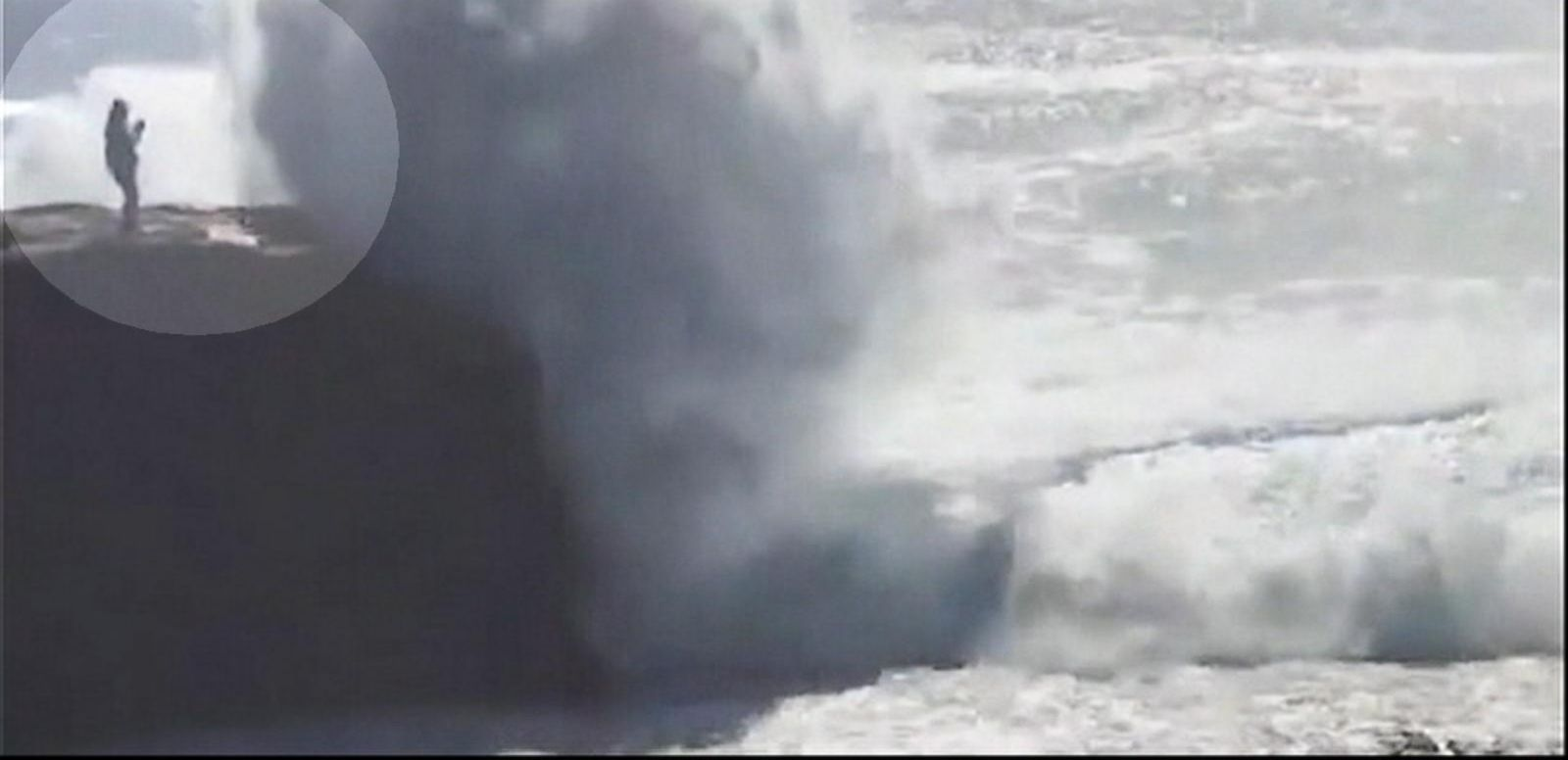 VIDEO: Woman Visiting Ireland Swept Away by Massive Wave