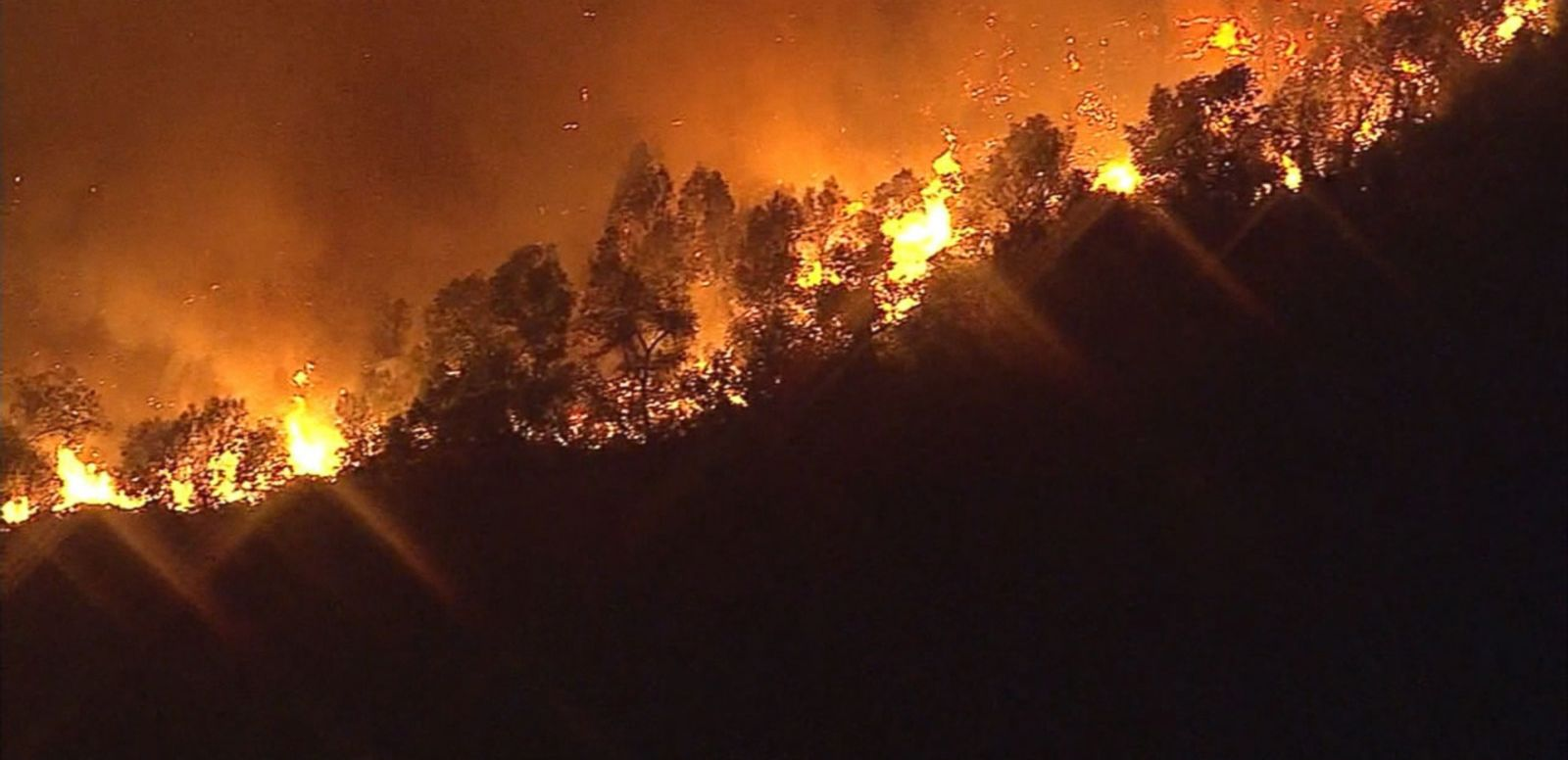 VIDEO: California Wildfire Forces Hundreds From Their Homes