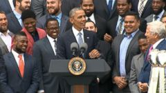 VIDEO: Obama Jokes About Tom Bradys Absence at White House