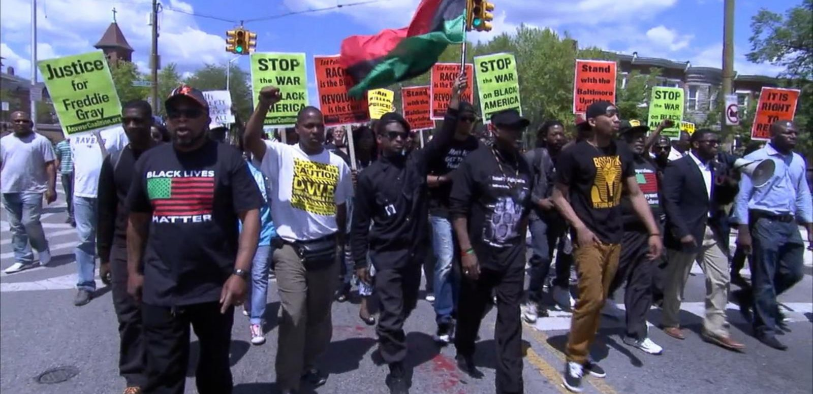 VIDEO: 'Victory Rally' Held Following Baltimore Officers' Arrests