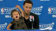 VIDEO: NBA Star Stephen Currys Daughter Steals Show at News Conference