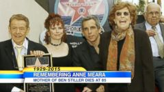 VIDEO: The actress was part of comedy duo Steller & Meara with husband Jerry Stiller and was mother to actor Ben Stiller. She died at the age of 85.