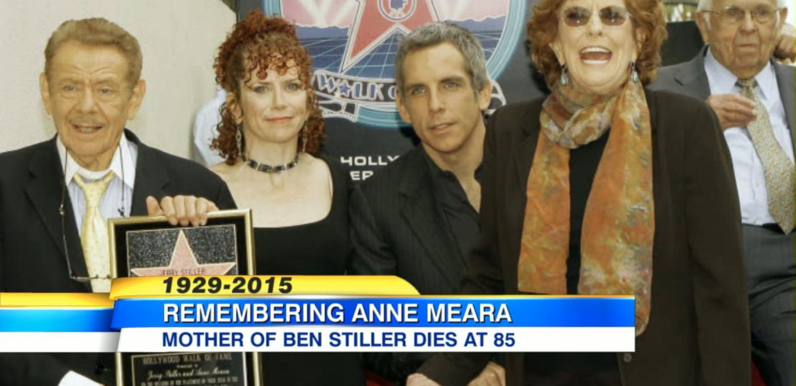 "VIDEO: The actress was part of comedy duo ""Steller & Meara"" with husband Jerry Stiller and was mother to actor Ben Stiller. She died at the age of 85."