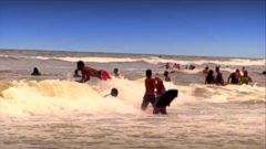 VIDEO: 130 Rescued, at Least 1 Dead from Rip Currents Near Daytona Beach