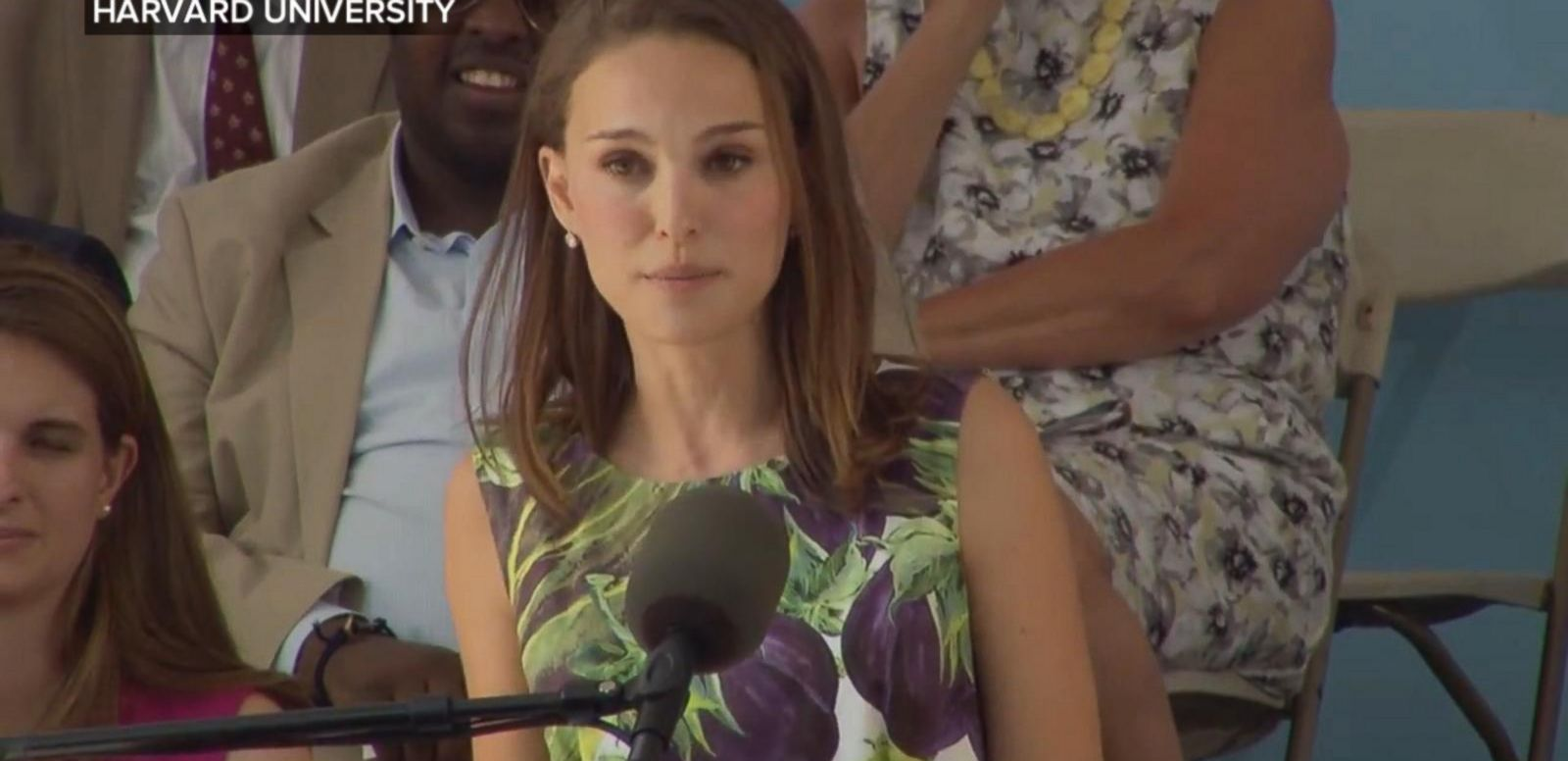 VIDEO: Natalie Portman discussed her past feelings of insecurity during speech at Harvard's Class Day.