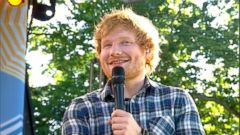VIDEO: Ed Sheeran on What It Feels Like to Take US by Storm