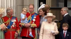 VIDEO: Prince George Makes 1st Appearance on Buckingham Palace Balcony