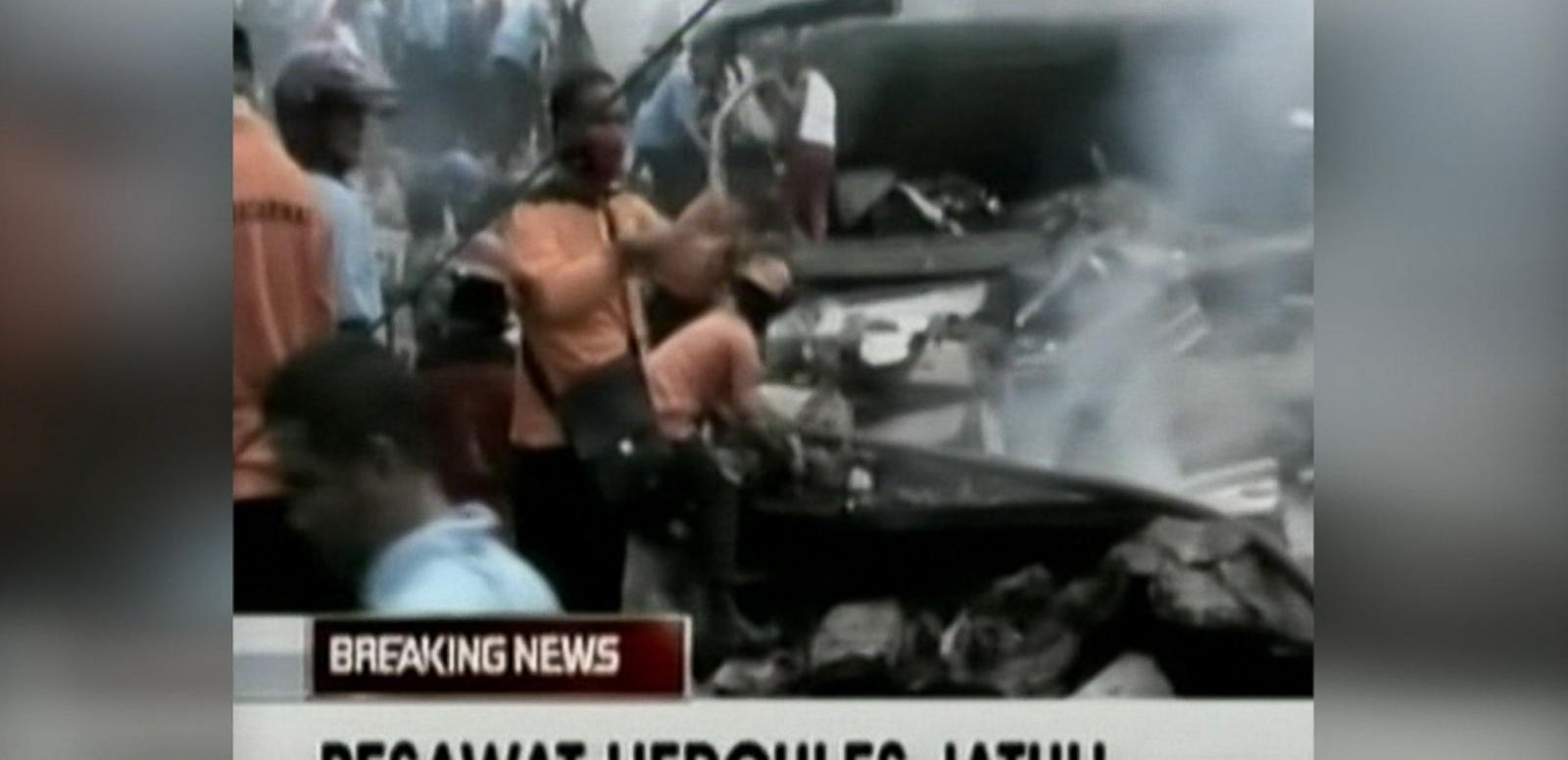 VIDEO: Military Jet Crashes Into Indonesian Hotel