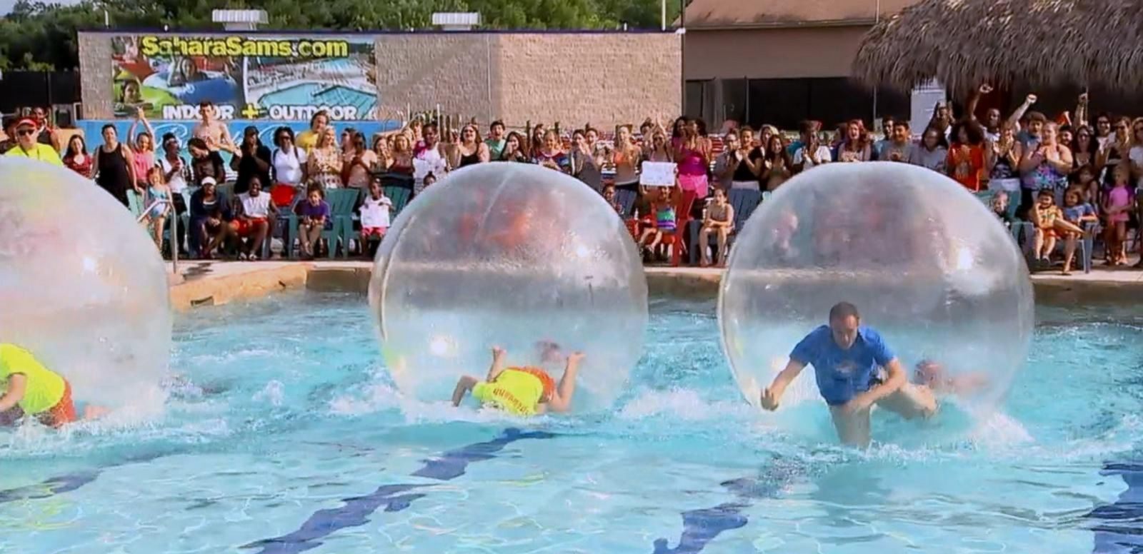 VIDEO: Water Ball Racing Is Wacky, Wild Way to Cool Down
