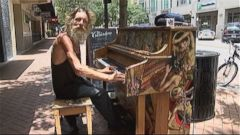 VIDEO: Donald Gould performs a five-song set list on public pianos set up in downtown Sarasota, Florida.