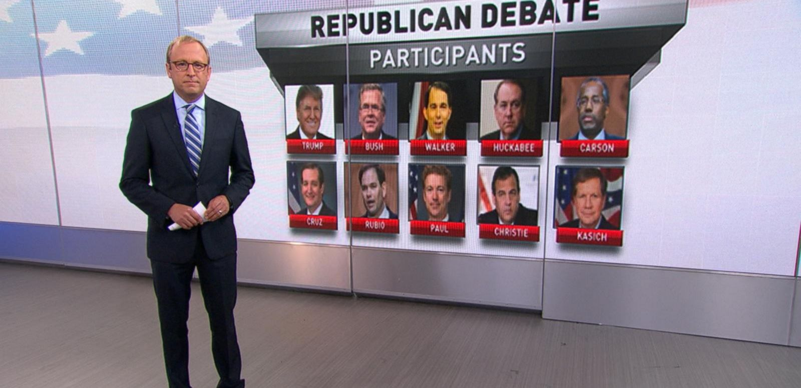 VIDEO: The 1st GOP Presidential Debate: Who's in, Who's Out