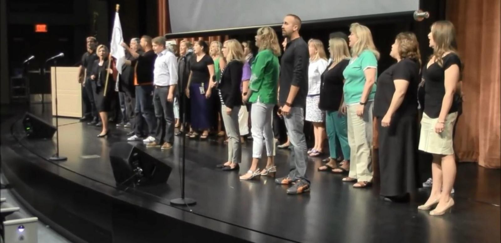 "VIDEO: Teachers from the West Des Moines Community School District sang ""One More Day."""