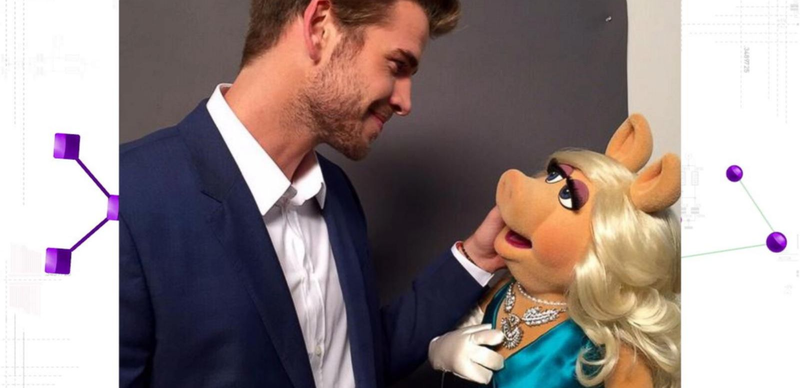 VIDEO: Liam Hemsworth Flirts With Missy Piggy: 'Most Beautiful Girl in the World'