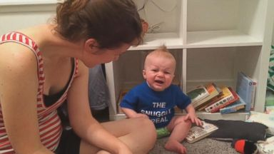 VIDEO: Bookworm Baby Cries Every Time A Book Ends