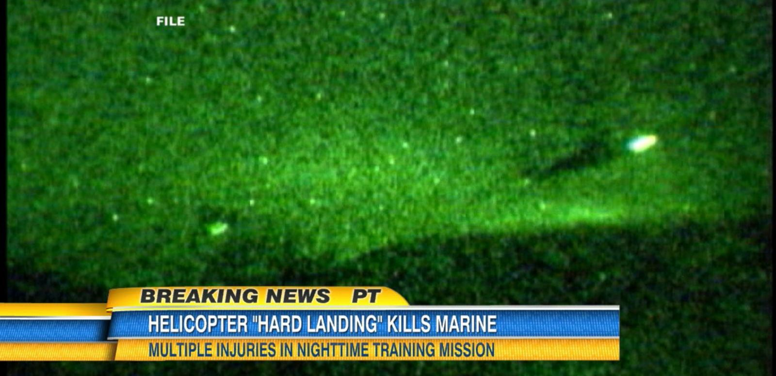 VIDEO: Helicopter 'Hard Landing' Kills Marine