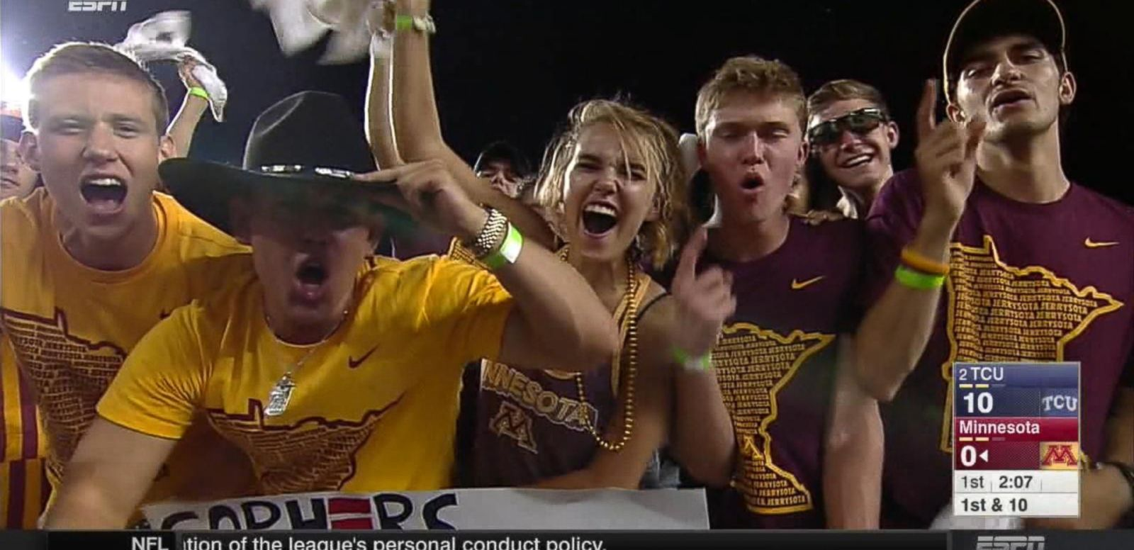 VIDEO: Sports Fans Around the Country Celebrate 'National College Colors Day'