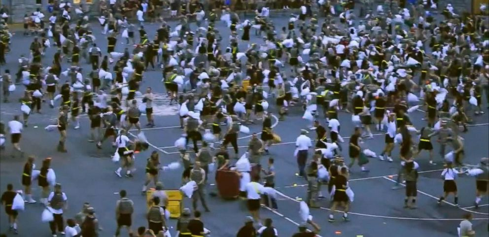 VIDEO: West Point Pillow Fight Turns Ugly When Hard Objects Hidden in Pillowcases