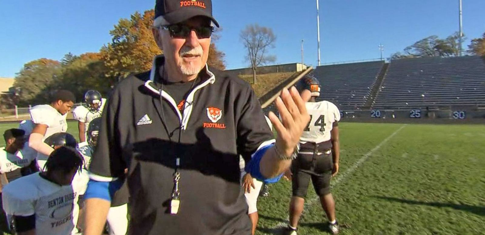 VIDEO: Retired College Football Coach Leads High School Team to Playoff Glory