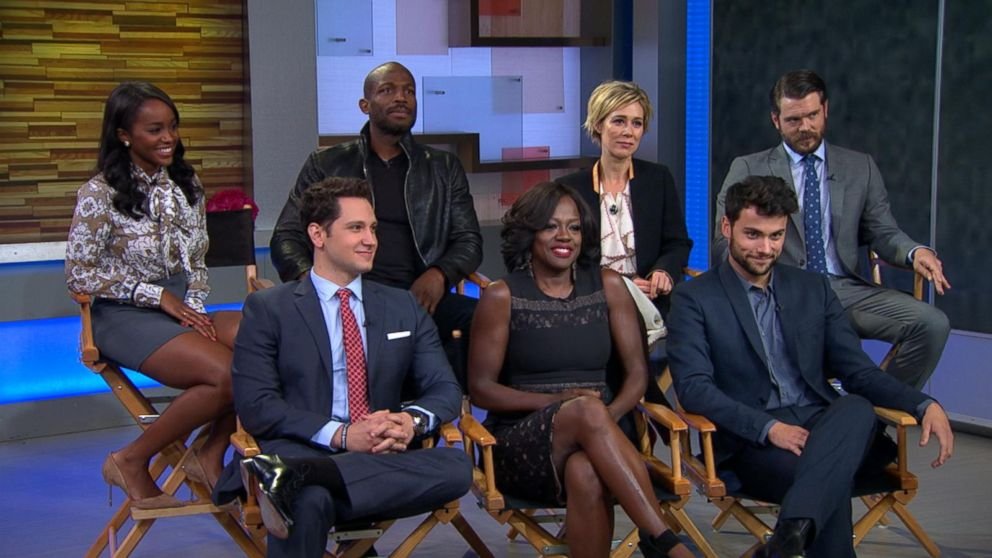 cast of how to get away with murder live video   abc news